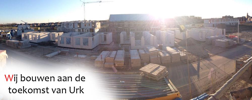 Oranjewijk Urk in aanbouw